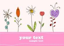 Fundo da flor do cartão do presente das crianças ilustração royalty free
