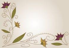 Fundo da flor do outono ilustração do vetor