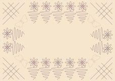 fundo da flor do ziguezague ilustração stock