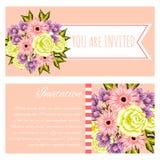 Fundo da flor fresca Imagens de Stock Royalty Free