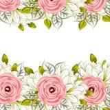 Fundo da flor fresca ilustração royalty free