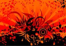 Fundo da flor na aumentação ilustração stock