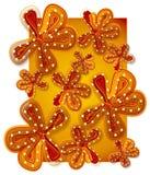 Fundo da flor no ouro vermelho Imagem de Stock Royalty Free