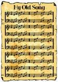 Fundo da folha de música ilustração stock