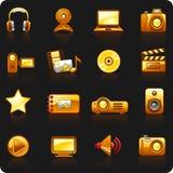 Fundo da foto e do Video_orange_black Imagens de Stock Royalty Free