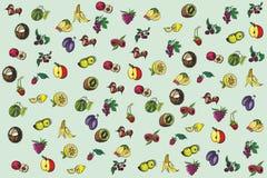 Fundo da fruta Fotos de Stock Royalty Free