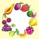 Fundo da fruta fresca Imagens de Stock Royalty Free