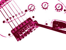 Fundo da guitarra. Estilo de Grunge. Foto de Stock
