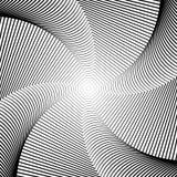 Fundo da ilusão do movimento do redemoinho do projeto Imagem de Stock