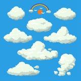 Fundo da ilustração do estilo dos desenhos animados da nuvem Foto de Stock