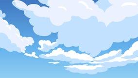 Fundo da ilustração do estilo dos desenhos animados da nuvem Fotografia de Stock