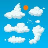 Fundo da ilustração do estilo dos desenhos animados da nuvem Fotografia de Stock Royalty Free