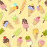 Fundo da ilustração do gelado no estilo abstrato de Memphis Fotografia de Stock