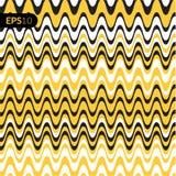 Fundo da ilustração do vetor do teste padrão Cubra com as linhas forma amarelas Imagens de Stock