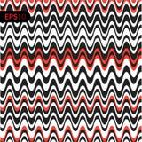 Fundo da ilustração do vetor do teste padrão Cubra com as linhas forma vermelhas Imagem de Stock