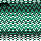 Fundo da ilustração do vetor do teste padrão Cubra com a forma de linhas verdes Fotos de Stock Royalty Free
