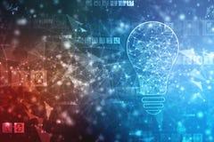 Fundo da inteligência artificial, fundo da inovação ilustração do vetor
