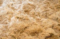 Fundo da inundação repentina na estação das chuvas após a tempestade para fora Fotografia de Stock