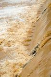 Fundo da inundação repentina na estação das chuvas após a tempestade para fora Imagens de Stock