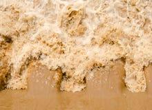 Fundo da inundação repentina na estação das chuvas após a tempestade para fora Foto de Stock
