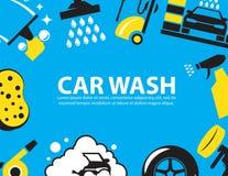 Fundo da lavagem de carros Imagens de Stock Royalty Free