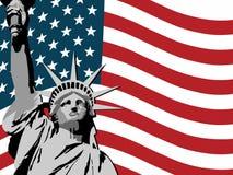 Fundo da liberdade dos EUA Foto de Stock Royalty Free