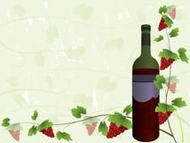 Fundo da lista de vinho ilustração stock