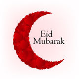 Fundo da lua para o festival de comunidade muçulmano Fotografia de Stock Royalty Free