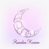 Fundo da lua para o festival de comunidade muçulmano Imagens de Stock Royalty Free