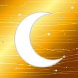 Fundo da lua para o festival de comunidade muçulmano Foto de Stock