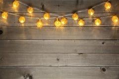 Fundo da luz de Natal Fotografia de Stock