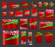 Fundo da luz de Natal com moldes da identidade corporativa ilustração stock