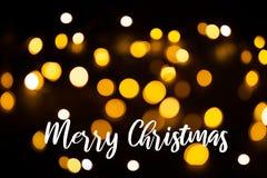 Fundo da luz de Natal Fundo de incandescência do feriado Fundo Defocused com estrelas piscar Bokeh borrado com imagem de stock