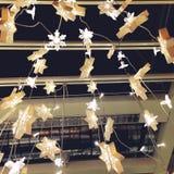Fundo da luz do ornamento de Chirstmas Fotografia de Stock Royalty Free