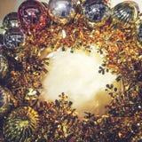 Fundo da luz do ornamento de Chirstmas Imagens de Stock Royalty Free