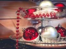 Fundo da luz do ornamento de Chirstmas Foto de Stock Royalty Free