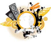 Fundo da música. Ilustração Royalty Free