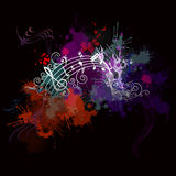Fundo da música com cor Fotografia de Stock Royalty Free