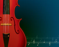 Fundo da música com violino Fotos de Stock