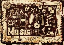Fundo da música da garatuja Imagem de Stock