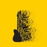 Fundo da música do ícone da guitarra Fotografia de Stock Royalty Free