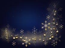 Fundo da música do Natal ilustração do vetor