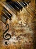 Fundo da música do vintage Fotografia de Stock Royalty Free