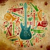 Fundo da música do vintage ilustração do vetor