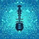Fundo da música rock - guitarra baixa Imagens de Stock Royalty Free