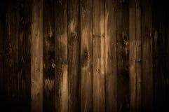 Fundo da madeira de Brown escuro Foto de Stock Royalty Free