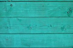 Fundo da madeira de turquesa Fotos de Stock