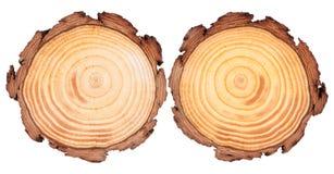 Fundo da madeira do corte redondo imagens de stock