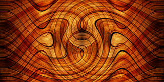 Fundo da madeira do Twirl Fotografia de Stock Royalty Free
