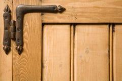 Fundo da madeira e da dobradiça Foto de Stock Royalty Free